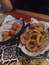 Garlic balls and onion rings