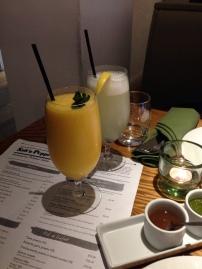 Mango lassi and skunjbi