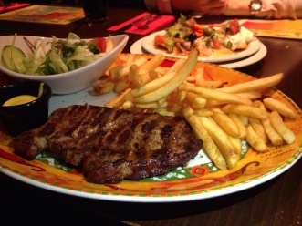 T bone steak
