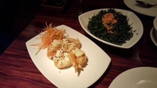 Crispy King Prawn in Wasabi Sauce, Crispy Seaweed